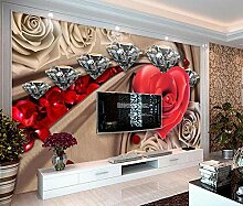ShAH Tapeten Malerei Rosen Tapete 3D für