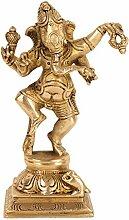ShalinIndia Dancing Statue Gott Ganesha Messing