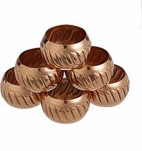 Shalinindia Kupfer Serviette Ringe Halterung für