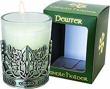 Shamrock Pewter Shamrock Designed Candle Holder