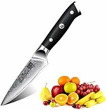 SHAN ZU Damast Schälmesser Obst und Gemüsemesser