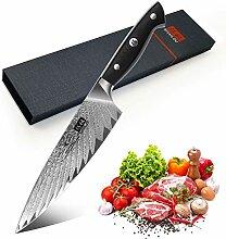 SHAN ZU Kochmesser, Küchenmesser Chefmesser 20cm