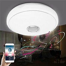 SHAND 24W Moderne LED Deckenleuchte Bluetooth