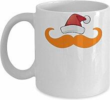 Shaniztoons Weihnachts-Tasse mit Schnurrbar