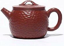 ShanShan Mu Handgefertigte Teekanne mit roten