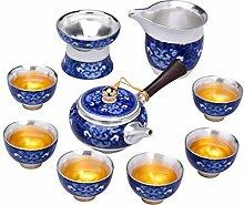 ShanShan Mu Keramik-Tee-Set mit Kung Fu Teetassen