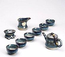 ShanShan Mu Kiln Ware Tee-Set aus Keramik,