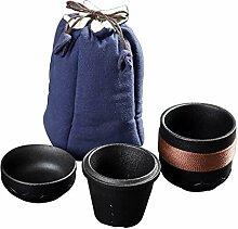 ShanShan Mu Quik Tasse aus Steingut, tragbar,