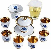 ShanShan Mu Tee-Set aus Keramik, handbemalt,
