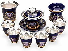 ShanShan Mu Tee-Set aus Keramik, Kung Fu,