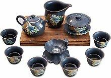 ShanShan Mu Tee-Set Kung Fu, Keramik, Schwarz
