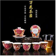 ShanShan Mu Tee-Set mit gegrillten Blumen aus