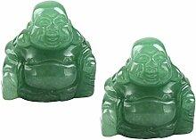 Shanxing Happy Buddha Figur Edelstein Kristall Feng Shui Dekoration Glücksbringer ca. 36x36x22mm