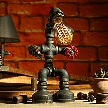 SHAOHUAYING Retro Steampunk Iron Pipe Roboter, Bar Lampe, Style A Größe, H33cm * w18cm ( Design : D )