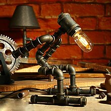 SHAOHUAYING Retro Steampunk Iron Pipe Roboter, Bar Lampe, Style A Größe, H33cm * w18cm ( Design : A )