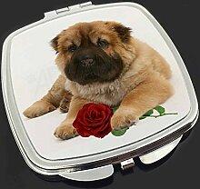 Shar Pei Hund mit roten Rose Make-up