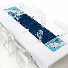 Shark Zone Papier-Tischläufer mit Haifischmotiv,