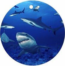 Sharks Ornament rund Porzellan Weihnachten tolle Geschenkidee