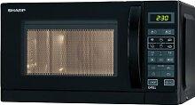 Sharp R642BKW 2-in-1 Mikrowelle mit Grill / 20 L /