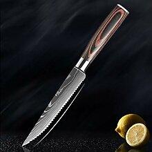Sharp Steak Messer Set 7cr17 Edelstahl Gezahnte
