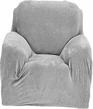Sharplace 1-Sitzer Elastische Stretch Sofabezüge Sofahusse Couch Sofa Hussen, Einfarbig - Grau