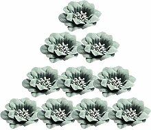 Sharplace 10 Stücke Kamelie Köpfe Für Diy Haar Zubehör 4,5 Cm - Grün