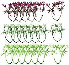 Sharplace 20 Stück Künstliche Beeren Für Die Hochzeit Kopfbedeckung Dekoration - Mehrfarbig