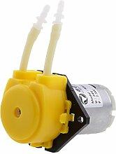 Sharplace 24V Peristaltische Flüssige Mini -Dosierschlauchpumpe für Aquarium Labor - Gelb