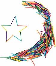 Sharplace 300 Stück Bunte Kinder Streichhölzer