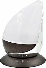 Sharplace 350ml Holz LED Ultraschall Luftbefeuchter Aroma Diffusor mit USB - Silber und dunkles Holzmaserung