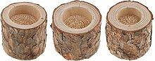 Sharplace 3X Baumstumpf Teelichthalter