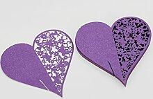 Sharplace 40x Herz Tischkarten Platzkarten