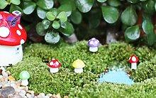 Sharplace 40x Mini Pilz Form Garten Blumentopf DIY Micro-Landschaft Garten Deko Ornamente Zubehör - Rosa, 9x11mm