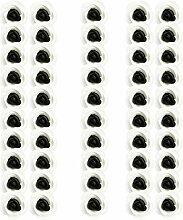 Sharplace 50 Stück Künstlicher Schaum Rose Kopf Für Hochzeit Dekoration - Schwarz