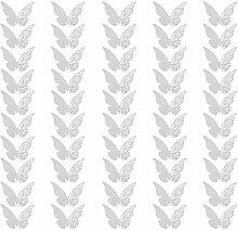Sharplace 50er Schmetterling Platzkarten Hochzeit