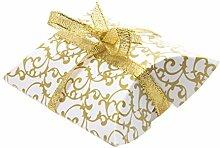 Sharplace 50Pcs Geschenk Kasten Karton Süßigkeit