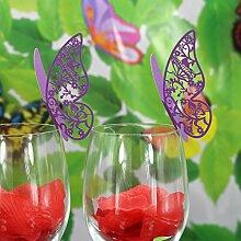 Sharplace 50pcs Papier Schmetterling Weinglas