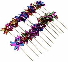 Sharplace 50x Bambus Picks Topper Zahnstocher