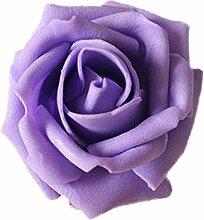 Sharplace 50x Schaumköpfe Künstliche Rose Blume