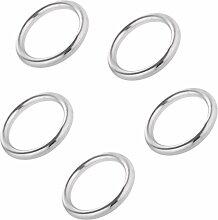 Sharplace 5pcs Set Edelstahl O Ring Bootsport Hängematte Boxsack zu hängen Befestigung Ringe - 3 x 15mm