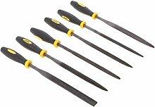 Sharplace 6 Stk. Mehrzweck Feine Werkzeuge, Nadelfeilen mit Gummigriffe für Modellbau - Schwarz Gelb 180mm