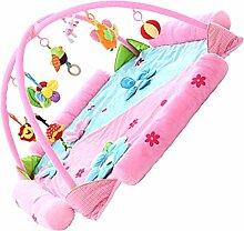 Sharplace Baby Spielmatte Erlebnisdecke 20*120*60 cm Erlebnisdecke Babybett mit 9 Klein Musik Spielzeug Krabbeldecke Spieldecke Spielbogen - Rosa, one size