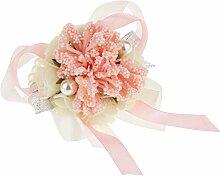 Sharplace Blumen Armband Handgelenk Armreifen Brautjungfer Blumen Braut Zubehör