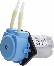 Sharplace DC 12V Kleine Pumpe Dosierung Schlauchpumpe mit Dosierkopf für Aquarium , Flüssigkeiten - Blau