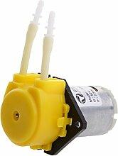Sharplace DC 12V Kleine Pumpe Dosierung Schlauchpumpe mit Dosierkopf für Aquarium , Flüssigkeiten - Gelb