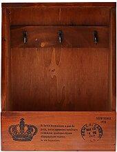 Sharplace Holz Schlüsselkasten Schlüsselbrett