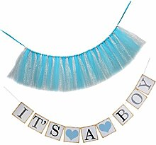 Sharplace It's A Boy Banner Wimpelkette +
