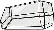 Sharplace Klein Glas Terrarium Gerätehäuser