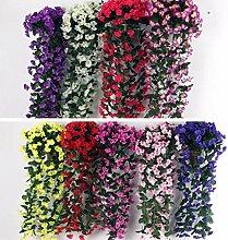 Sharplace Künstliche Blumen Girlande - Königsblau