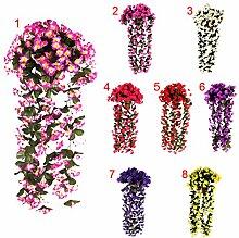 Sharplace Künstliche Blumen Girlande - Ro